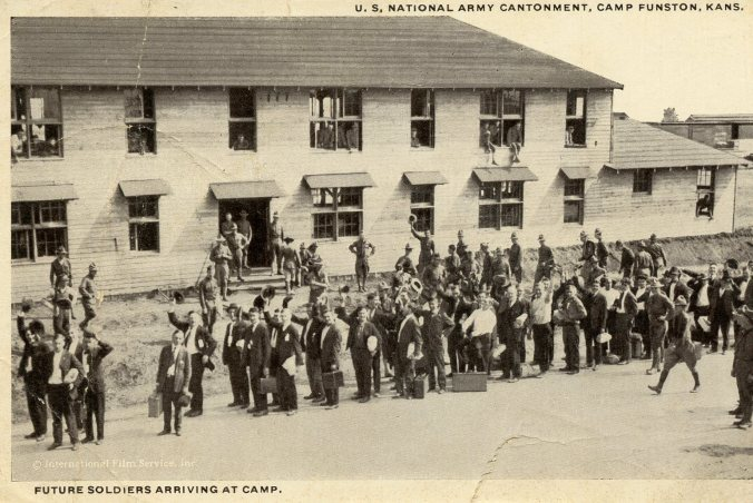 Soldiers Arriving Funston