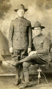 Grandpa and buddy Tom Wright