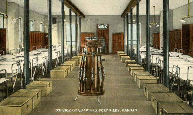 Interior of Quarters, Fort Riley