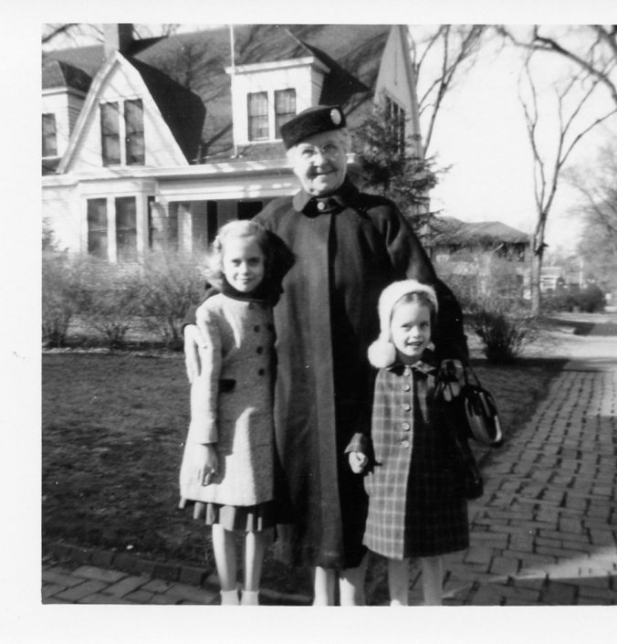 Grandma, Marcia and me, 1954