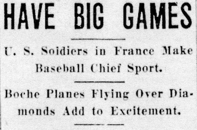 Baseball game, france (1) headline