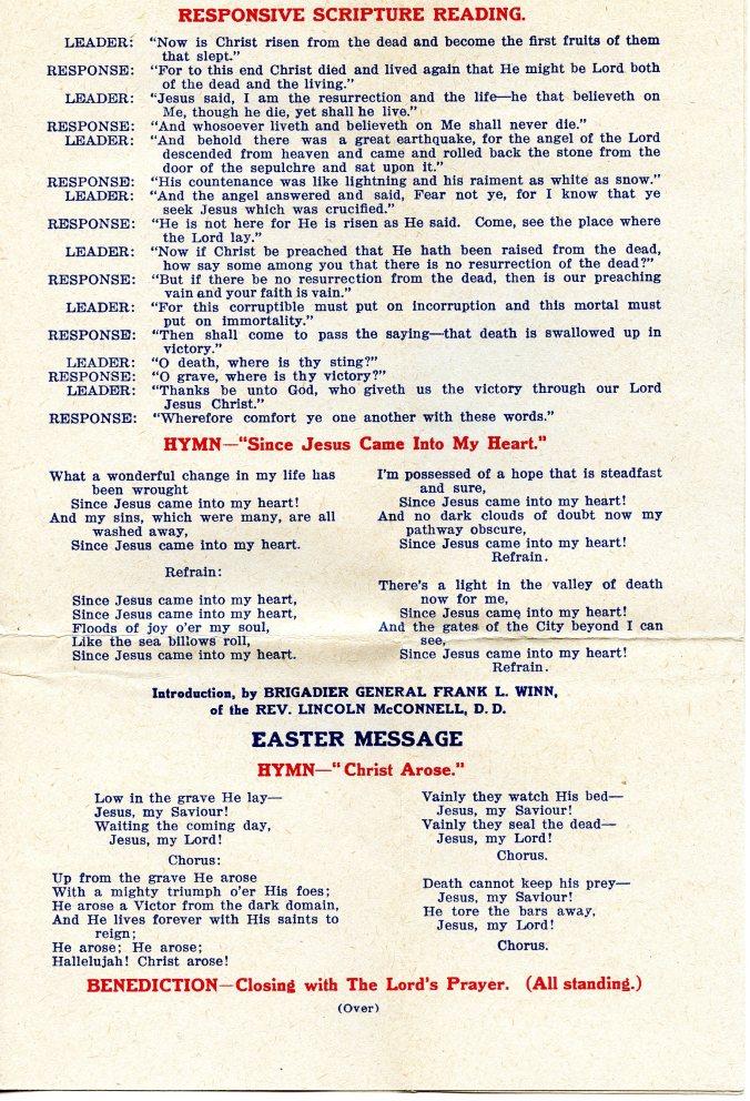 Easter program 2