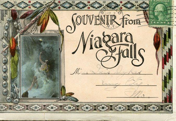 Niagara Falls postcard booklet, 4-19