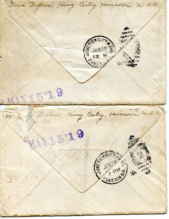 returned envelopes, Gma