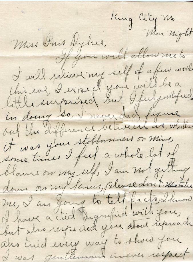 December letter, 1919, 1