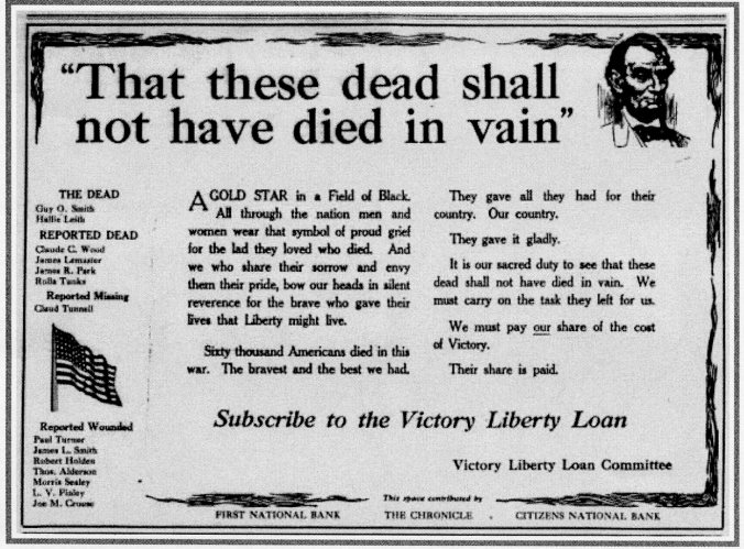 May 1919 liberty loan ad